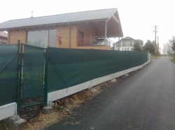 Stínící síť na ploty šiře 150 cm